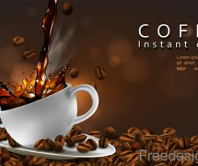 Coffee instant choice advertisement poster vector 01