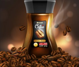 Coffee poster design vector illustration