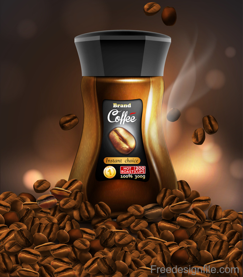 Coffee poster design vector illustration