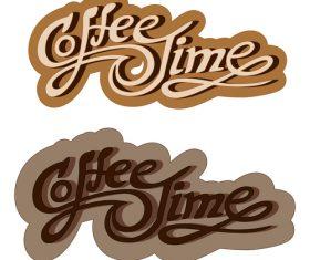 Coffee text logo design vector 01