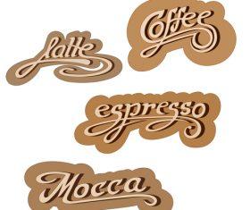 Coffee text logo design vector 02