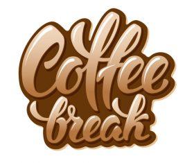 Coffee text logo design vector 03