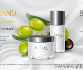 Cosmetic Olives poster template vector