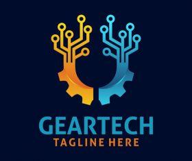 Creative gear logo design vectors set 01