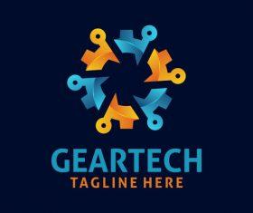 Creative gear logo design vectors set 02