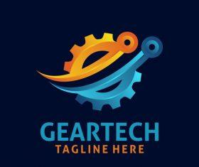 Creative gear logo design vectors set 03
