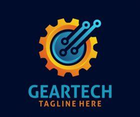 Creative gear logo design vectors set 05
