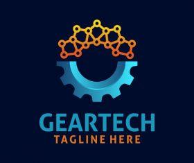 Creative gear logo design vectors set 06