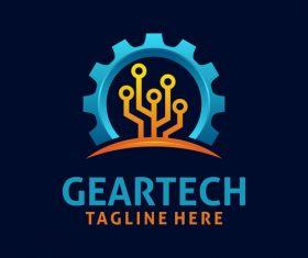 Creative gear logo design vectors set 08