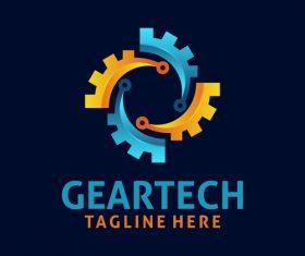 Creative gear logo design vectors set 09