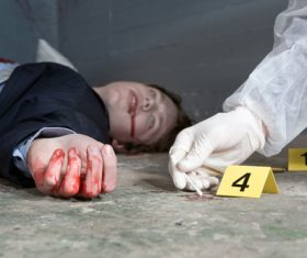 Crime scene investigation Stock Photo 01