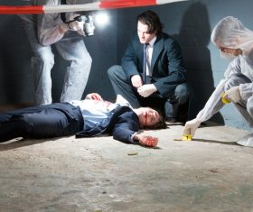 Crime scene investigation Stock Photo 03