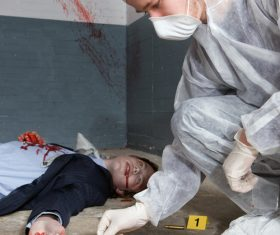 Crime scene investigation Stock Photo 04
