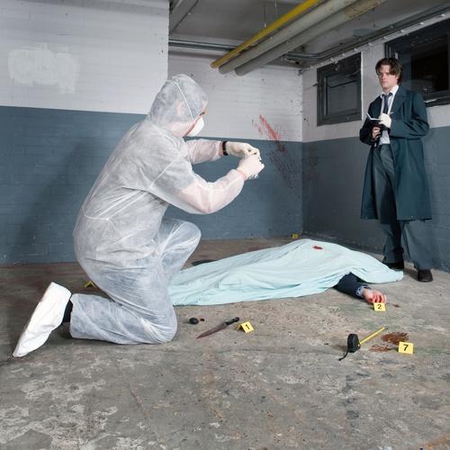 Crime scene investigation Stock Photo 05