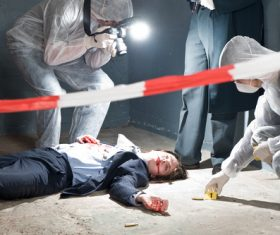 Crime scene investigation Stock Photo 06