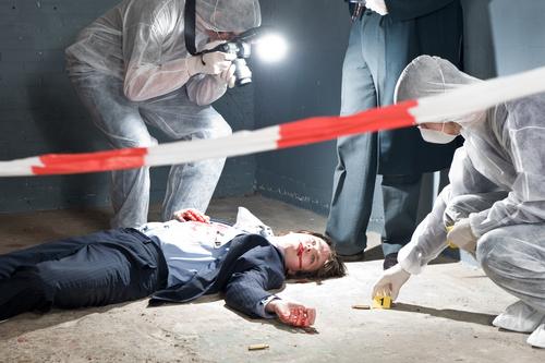 Crime scene investigation Stock Photo 06