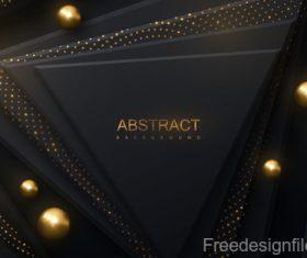 Dark black layered background design vector 02