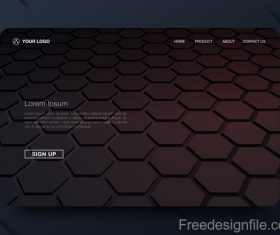 Dark styles website background template vector 02