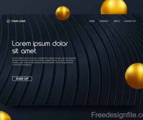 Dark styles website background template vector 03