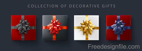 Decorative gift design vector set