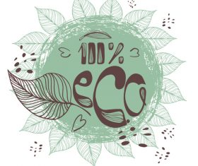 Eco design and vegan healthy lifestyle vector 02