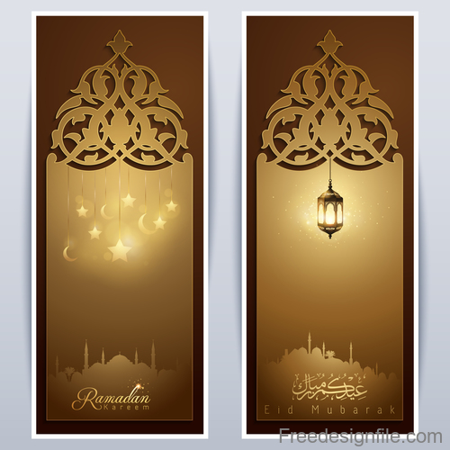 eid mubarak greeting template roll up banner background vector free download eid mubarak greeting template roll up