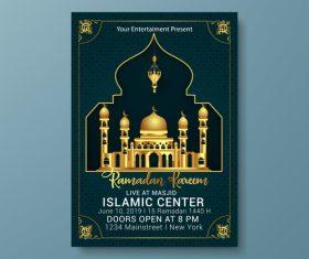 Eid mubarak festival poster template vector 01