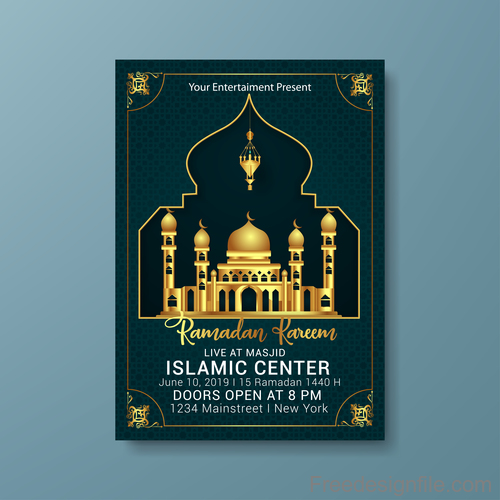 Eid Poster Templates | PosterMyWall |Eid Festival Poster