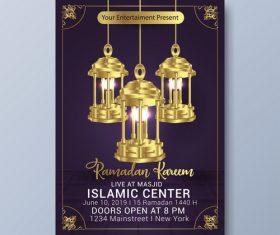 Eid mubarak festival poster template vector 02