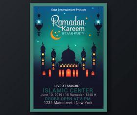 Eid mubarak festival poster template vector 05