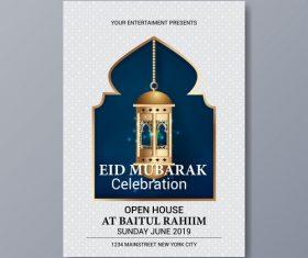 Eid mubarak festival poster template vector 07