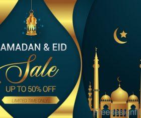 Eid mubarak sale background vector design 01