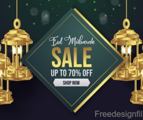 Eid mubarak sale background vector design 02