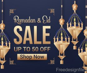 Eid mubarak sale background vector design 04