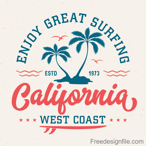 Enjoy Great Surfing Logo design vector