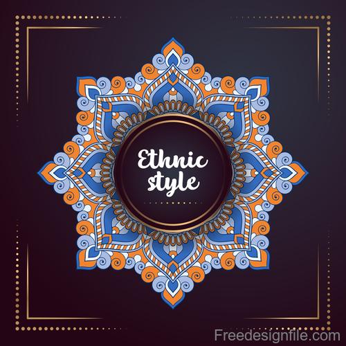 Ethnic styles colored decor pattern vectors 01