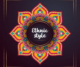 Ethnic styles colored decor pattern vectors 03