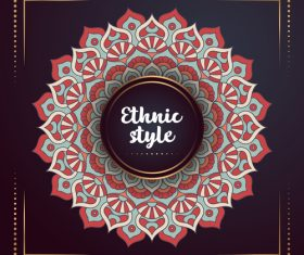 Ethnic styles colored decor pattern vectors 04