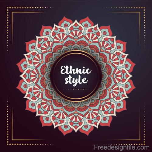 Ethnic styles colored decor pattern vectors 04