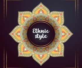 Ethnic styles colored decor pattern vectors 06