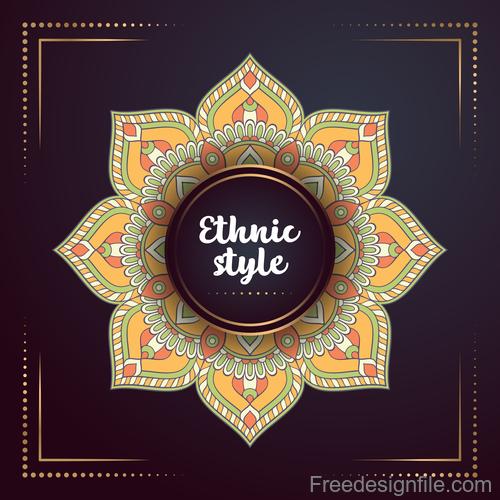 Ethnic styles colored decor pattern vectors 06