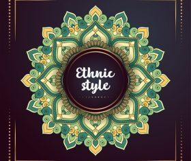 Ethnic styles colored decor pattern vectors 09