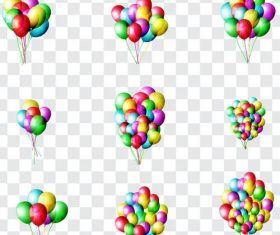 Festival colored balloons illustration vector 01