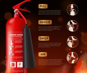 Fire extinguisher poster vector