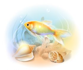 Fish illustration vector design 01