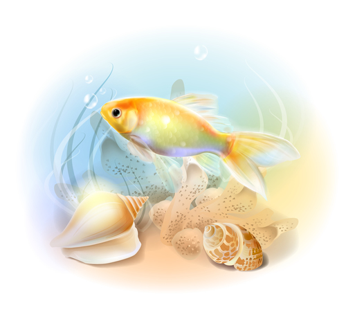 Fish illustration vector design 01