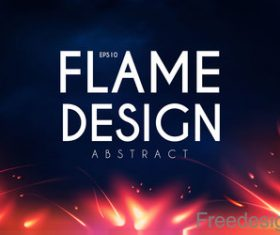 Flame design abstract background vector 01