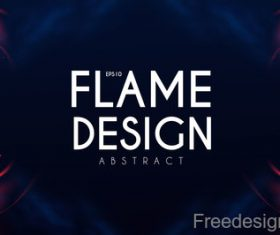 Flame design abstract background vector 02