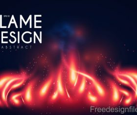 Flame design abstract background vector 03