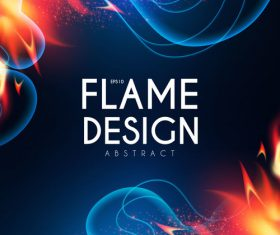 Flame design abstract background vector 04